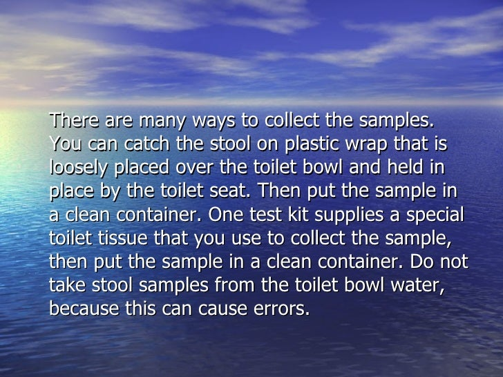 occult stool test instructions