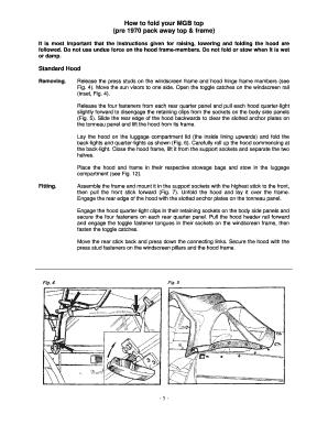 mgb top folding instructions