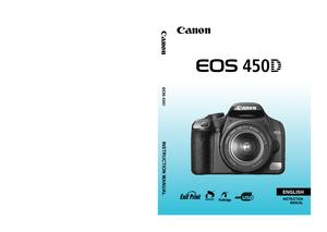 canon 450d instruction manual