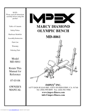 marcy diamond elite olympic bench instructions
