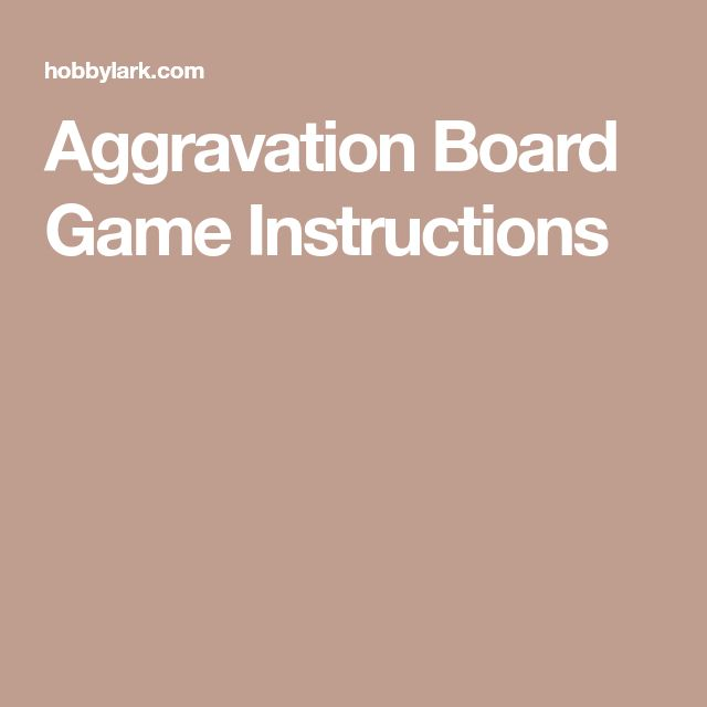 board games rules and instructions