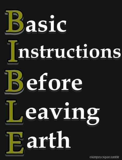 basic instructions before leaving earth meaning