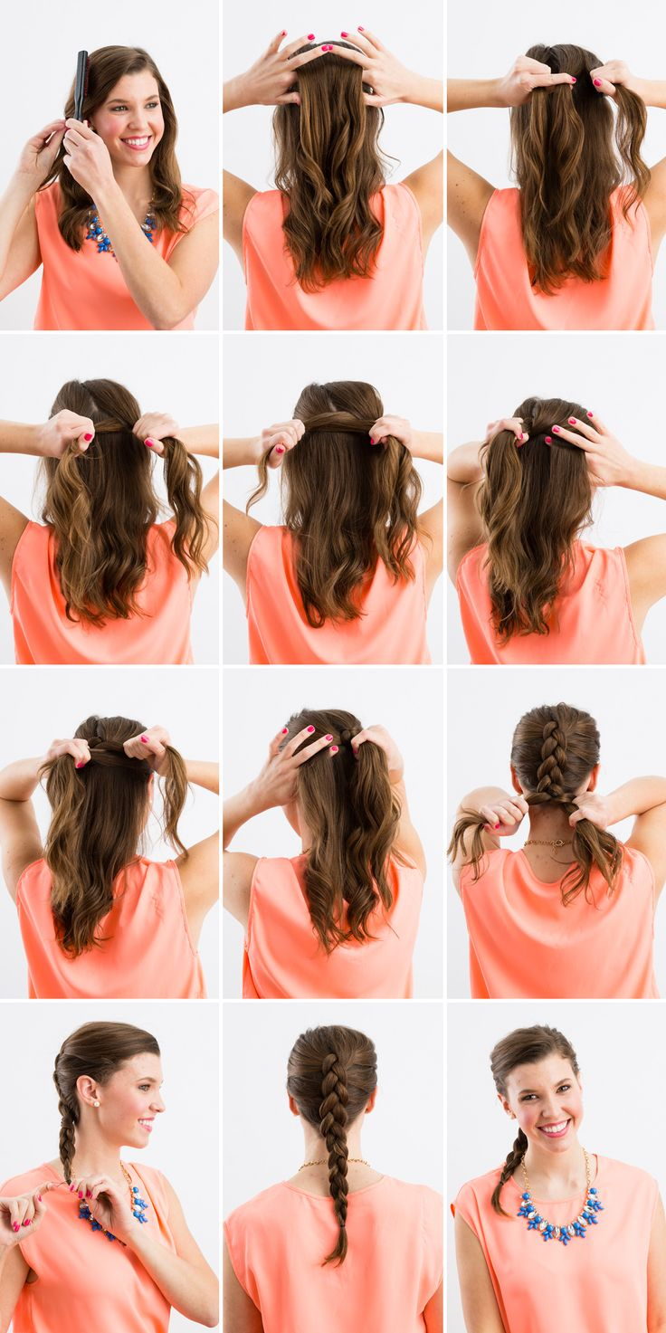 instructions on how to do a french braid