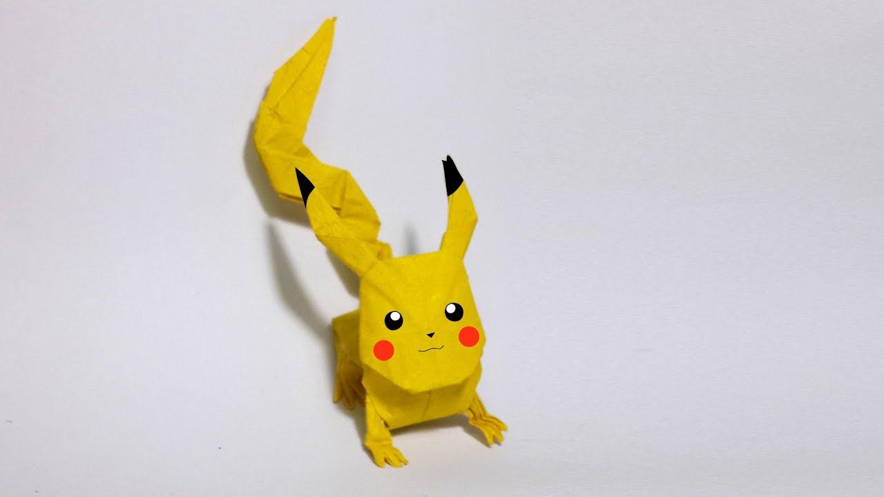origami pokemon pikachu instructions
