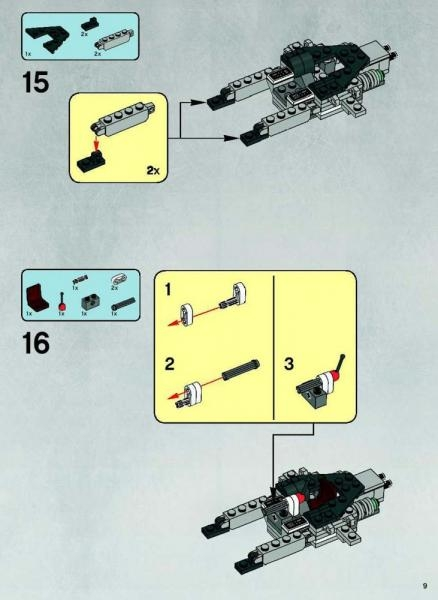 lego star wars jedi starfighter with hyperdrive booster ring instructions