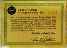 pickett slide rule instructions