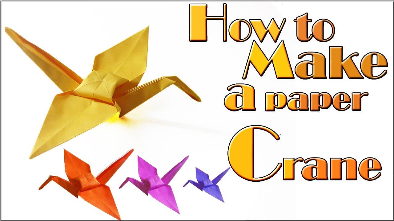 paper crane instructions pdf