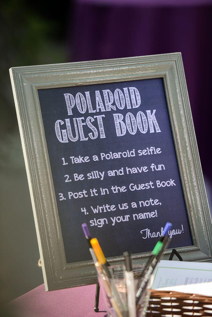 wedding guest book instructions