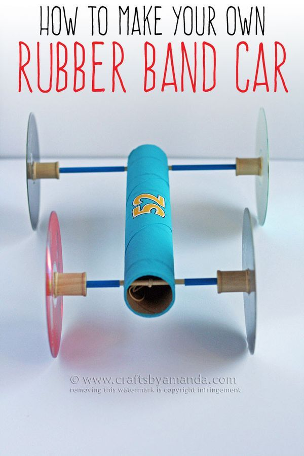 rubber band racer instructions