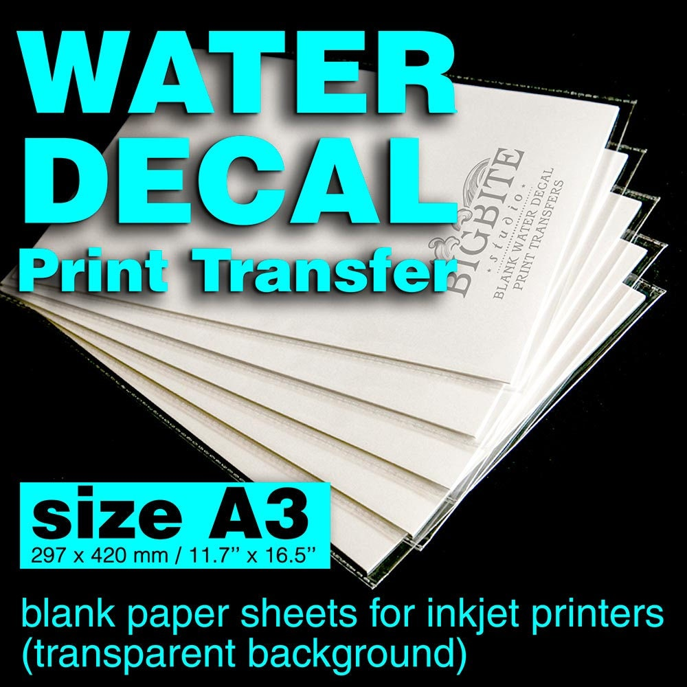 inkjet clear waterslide decal paper instructions