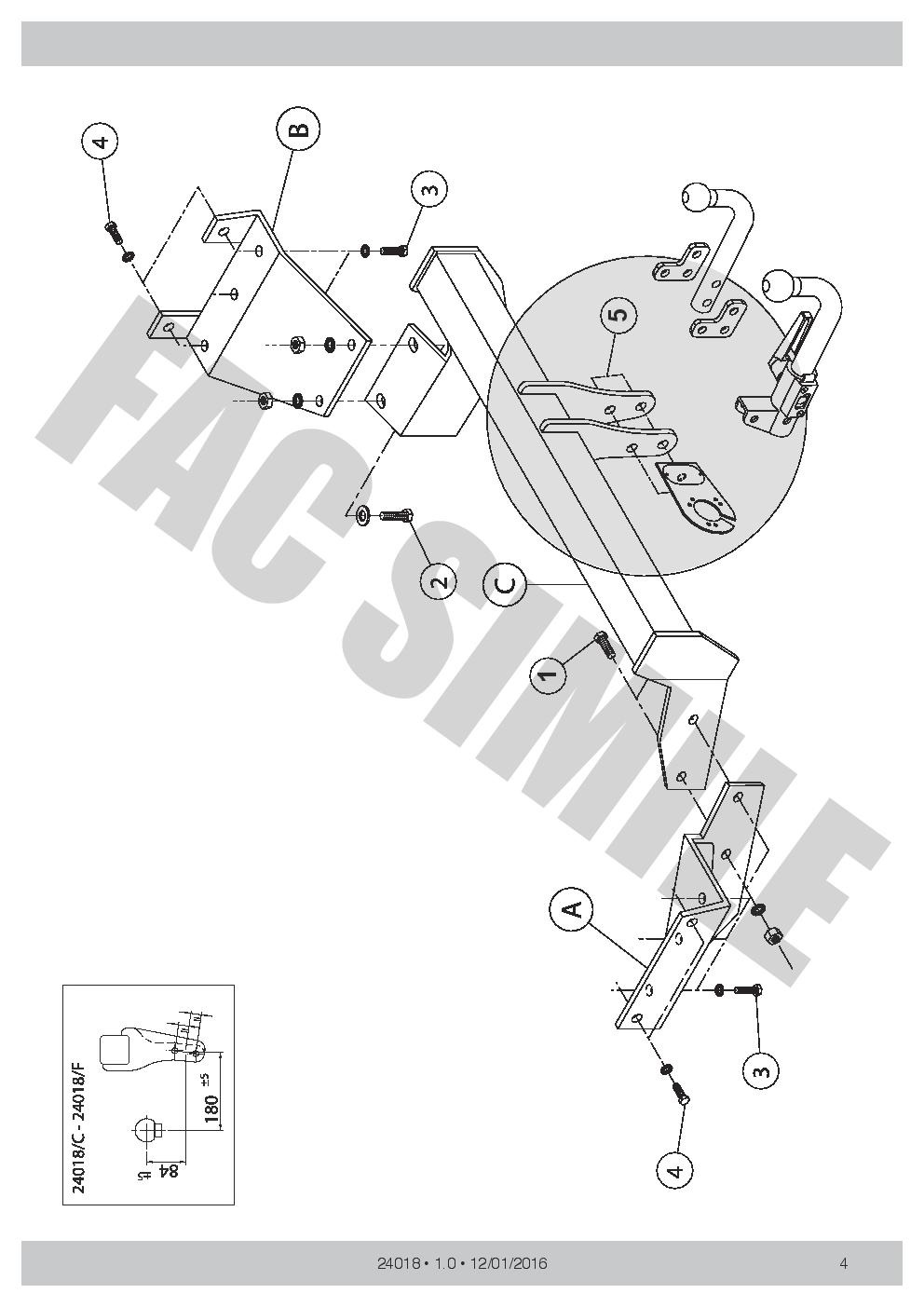 citroen c4 towbar wiring instructions