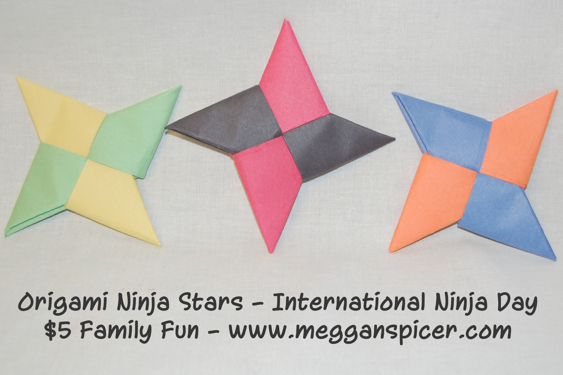 instructions to make a paper ninja star