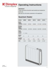 dimplex rio heater instructions