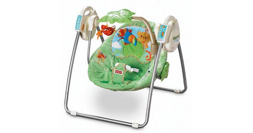 fisher price rainforest take along swing instructions