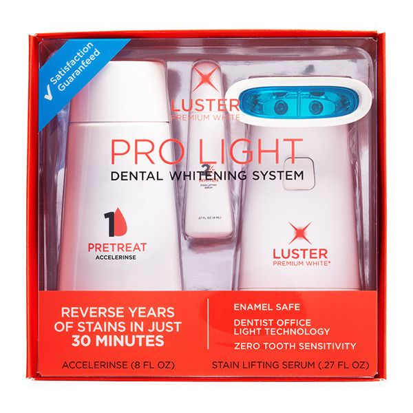 luster pro light teeth whitening system instructions