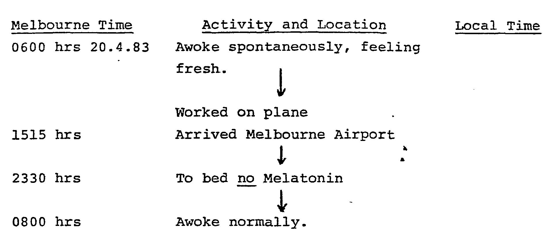 melatonin jet lag instructions