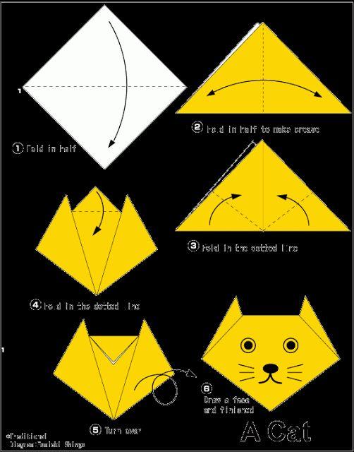 origami cat bookmark instructions
