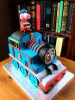 thomas the tank engine cake instructions